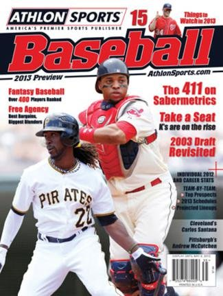 2013 Athlon Sports MLB Baseball Preview Magazine- Cleveland Indians/Pittsburgh Pirates Cover (Book Pittsburgh Cover Pirates)