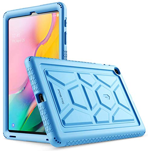(Galaxy Tab A 10.1 Case, Model SM-T510/T515 2019 Release, Poetic Heavy Duty Shockproof Kids Friendly Silicone Case Cover, TurtleSkin Series, for Samsung Galaxy Tab A Tablet 10.1 Inch (2019), Blue)