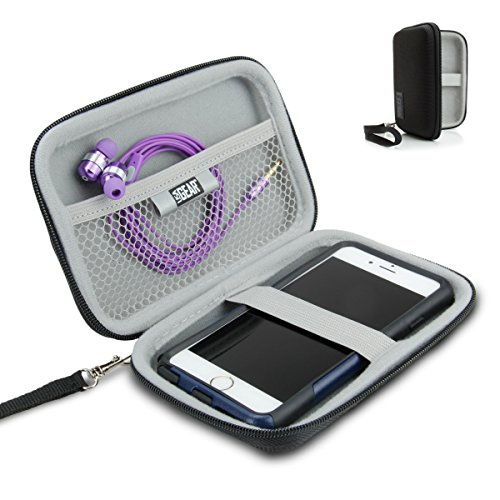 Hard Shell iPod Portable Travel Case for Apple iPod Touch ( 7th , 6th, 5th Generation ) iPod Nano with Protective EVA Design , Weather Resistant Exterior , Wrist Strap - Von Zipper Dharma