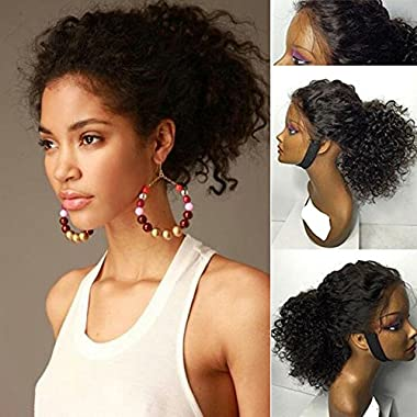 Helene Hair 8A Unprocessed 100% Brazilian Virgin Hair Human Hair Kinky Curly Wigs with Baby Hair 180% Density Lace Front Wigs 20 Inch