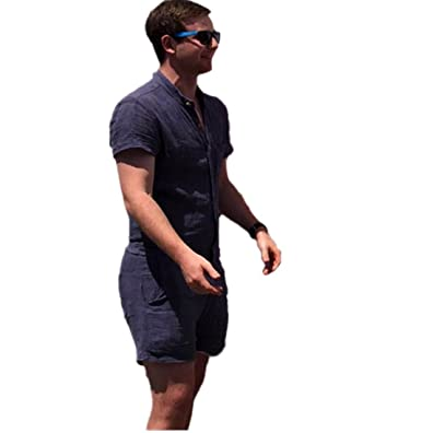 31042634f11 Highpot New Fashion Mens Boy Casual Short Sleeve Shorts Stretch Suit  Jumpsuit (XS