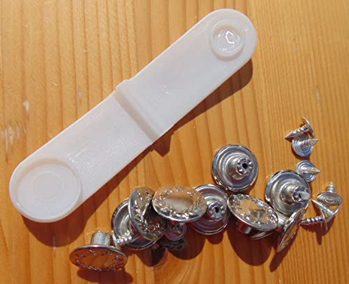 DIY Bouton de Rechange Jeans Bouton de Pantalon en M/étal QPY R/étractable Jeans Bouton Lot de 10 Accessoires de Couture R/éparation de Jeans