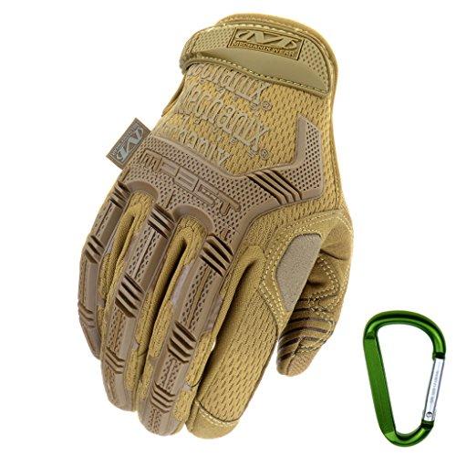 Mechanix WEAR M-PACT Tactical Einsatz-Handschuh, optimaler Schutz, atmungsaktiv beste Passform + Gear Karabiner, Schwarz…