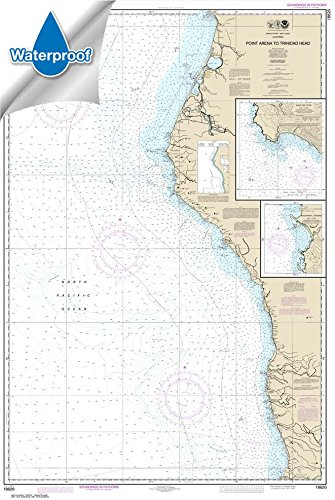 NOAA Chart 18620: Point Arena to Trinidad Head; Rockport Landing; Shelter Cove 32.7 x 48.7 (WATERPROOF) ()