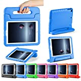 ipad cover for kids - CAM-ULATA for New 9.7 iPad Case Kids 2018/2017 Shockproof for iPad Air 1 Air 2 Tablet Kids proof Handle Cover 5th 6th Generation 9.7 inch with Folio Stand Blue