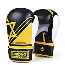 Flexzion Boxing Sparring Training Gloves Pro Muay Thai Kickboxing Heavy Bag Punching Mitts Wrist Wrap Full Contact Combat Sport Protective Hand Gear Martial Art Supply for Women & Teens, 10Oz