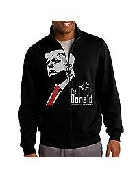 Zepu Men's Sweatshirt Election 2016 Donald Trump THE Donald Full-zip Hoodie Jacket Black