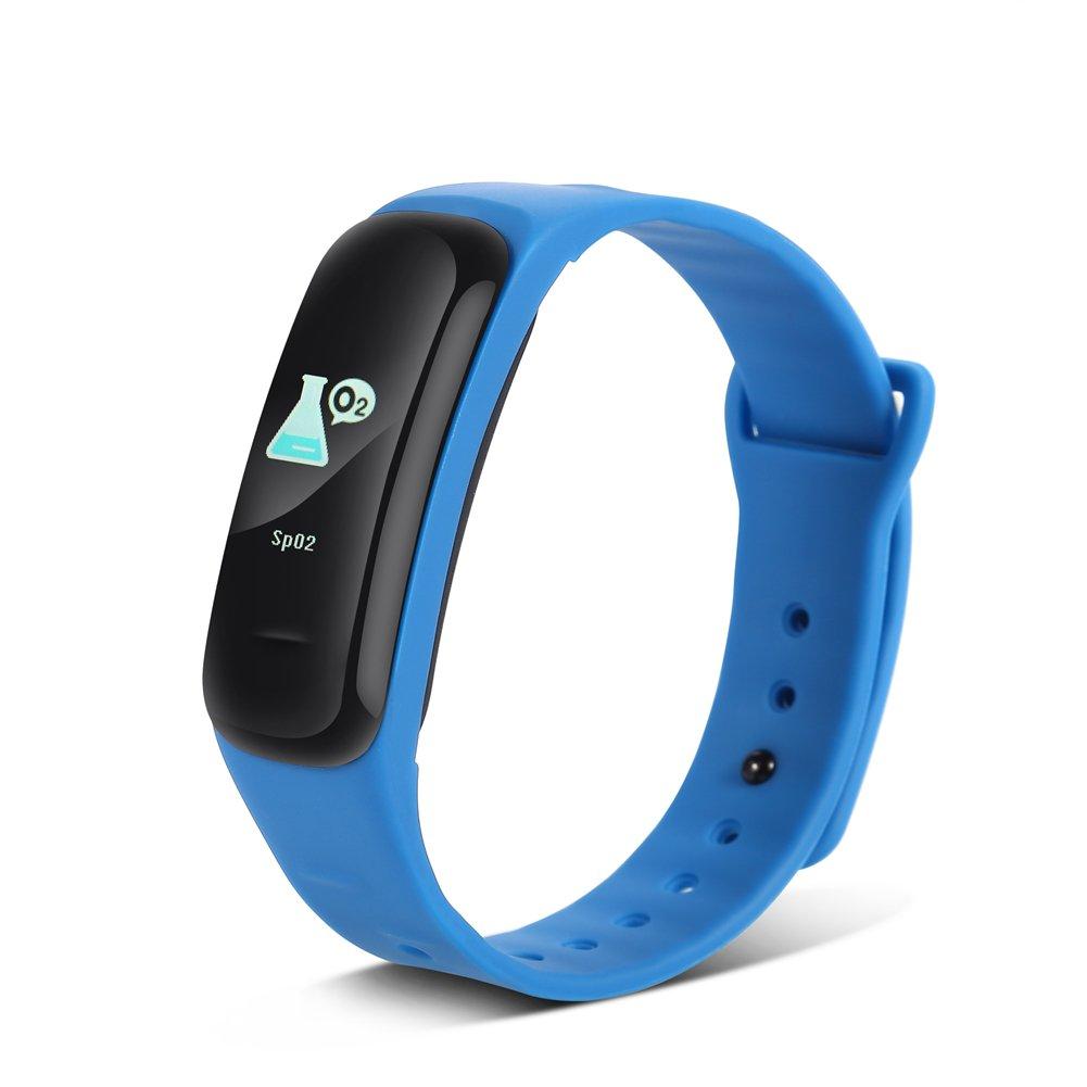 Negro Vbestlife Pulsera de Actividad Inteligente con Monitor de Ritmo Card/íaco Monitor de Dorimir,Fitness Tracker Pulsera de Deporte