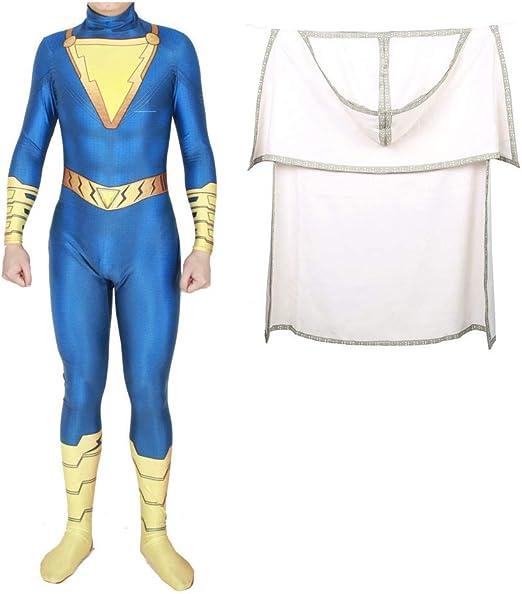 BGHKFF Superhéroe Shazam Disfraz Cosplay NiñO Adulto Ropa Vestido ...