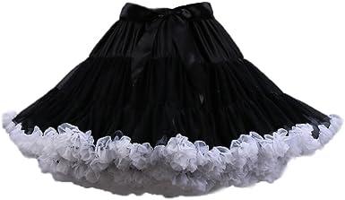 PhilaeEC Mujeres Tulle Petticoat Tutu Party Multicapa Puffy ...