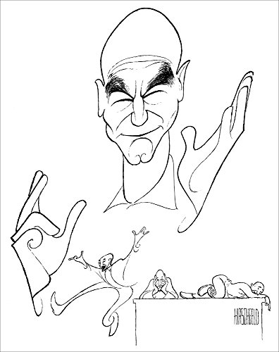 PATRICK STEWART in A CHRISTMAS CAROL, Hand Signed by AL HIRSCHFELD, Limited Edition (Stewart Hand Signed)