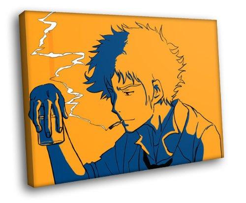 Cowboy Framed Canvas - H5D7455 Cowboy Bebop Spike Spiegel Anime Manga Art 20x16 FRAMED CANVAS PRINT