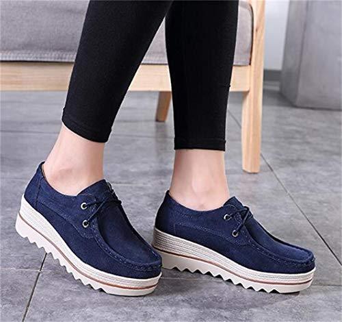 WUIWUIYU  厚底靴 レディース ウォーキングシューズ 婦人 スニーカー 軽い 通気 美脚 歩くやすい 通勤靴 大きいサイズ