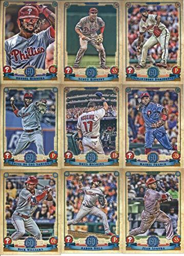2019 Gypsy Queen Baseball Philadelphia Phillies Team Set of 10 Cards: Aaron Nola(#20), Jean Segura(#30), Jake Arrieta(#31), Maikel Franco(#69), Nick Williams(#70), Seranthony Dominguez(#96), Enyel De Los Santos(#98), Rhys Hoskins(#102), Scott Kingery(#209), Odubel Herrera(#299)