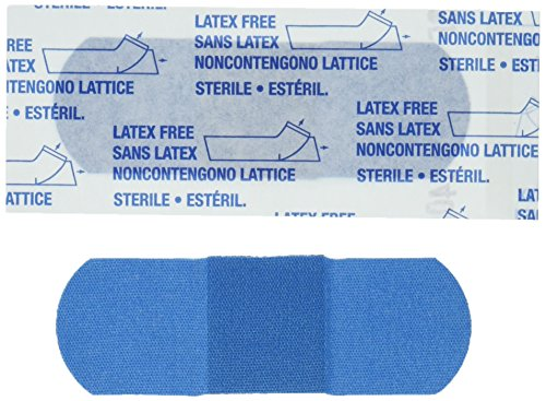 American White Cross 1631025  Blue Metal Detectable Adhesive Strips, Sterile, Lightweight 1