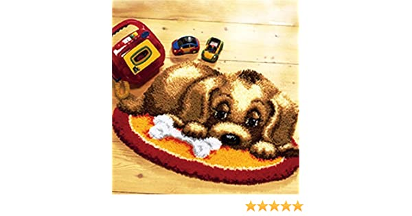 1 Pack Beyond Your Thoughts New 15 Model Dog Latch Hook Kit Rug Dog010 20 by 15 Inch