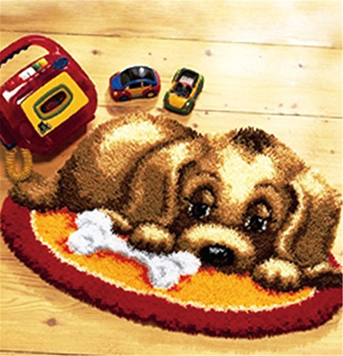 15 Model Dog Latch Hook Kit Rug Dog010 20 by 15 Inch (1 pack) by BYT Collections