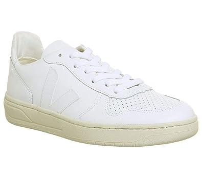 e1ac36aae1 VEJA - Baskets basses - Homme - Sneakers V10 Cuir Blanc pour homme ...