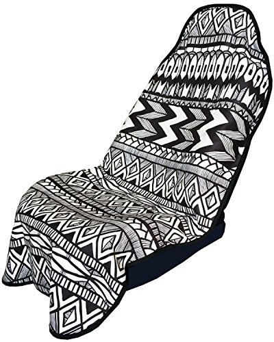 Bench Hoody - Seat Hoody: Post-Workout Car and Truck Seat Cover Protector. Universal Fit, Machine Washable, Grippy Nonslip Backing. After a Workout, Hot Yoga, Beach Seat Protection - Tribal Flow
