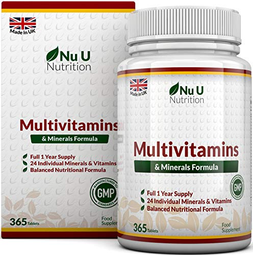 Multivitamins & Minerals Formula - 365 Tablets (Up to 1 Year Supply) – 24...
