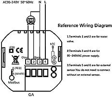 BECA 1000 Series 3//16A Pantalla t/áctil LCD Agua//Calefacci/ón el/éctrica//Caldera Termostato de control de programaci/ón inteligente con conexi/ón WIFI Calentamiento de caldera,Blanco