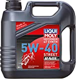 Liqui Moly 20076 Motorbike 4T Synthetic 5W-40 Race Engine Oil - 4 Liter