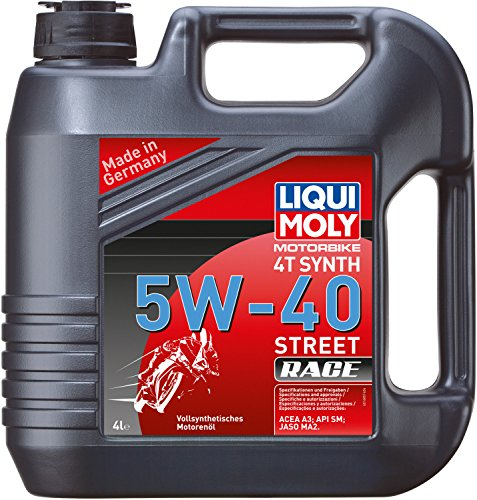 Liqui Moly 20076 Motorbike 4T Synthetic 5W-40 Race Engine Oil - 4 Liter -