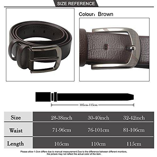 26e1d625728ac SiDiOU Group Cinturón de cuero genuino para hombre broche hebilla cinturón  de negocios de los hombres