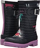 Joules Girls' JNRGIRLSWLY Rain Boot, French Navy sea Pony, 10 Medium US Infant