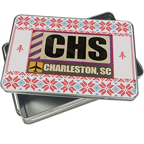(NEONBLOND Cookie Tin Box Airportcode CHS Charleston, SC Vintage Christmas)
