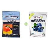 Matt's Munchies Premium Fruit Snack Mango Acai -- 1 oz, ( 7 PACK ), Nature's All Foods Organic Freeze-Dried Raw Blueberries -- 1.2 oz