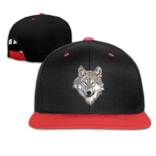 [Kids Wolf Head Adjustable Baseball Cap] (Wolf Head Hat)