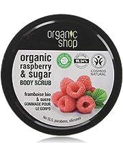 Organic Shop Body Scrub Natural Raspberry Cream and Sugar 250 ml