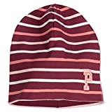 Polarn O. Pyret Striped ECO Beanie (2-9YRS) - Tawny Port/2-9 Years