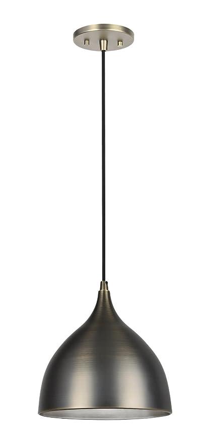 Aspen Creative 61086, 1-Light Hanging Mini Pendant Ceiling Light, 9 3/