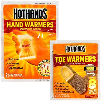 Long Lasting Safe Natural Odorless Air Activate... HotHands Hand /& Toe Warmers