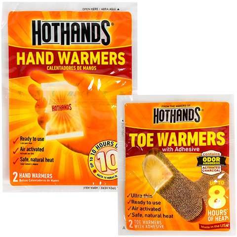 HotHands Hand & Toe Warmers Long Lasting Safe Natural Odorless Air Activated Warmers 10 Pair OF Hand Warmers & 2 Pair Of Toe Warmers