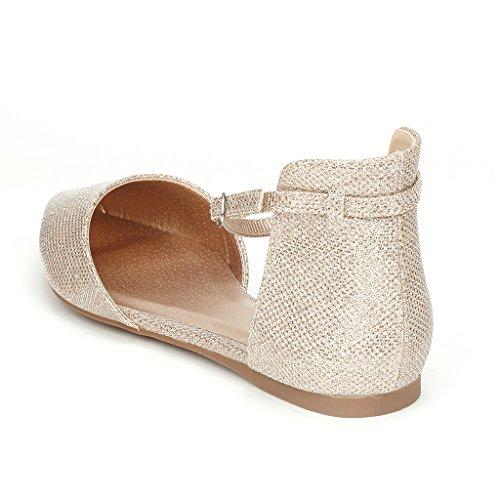 DREAM PAIRS FLAPOINTED Frauen Casual D'Orsay wies Plain Ballett Comfort Soft Slip auf Wohnungen Schuhe neu Knöchel-Gold