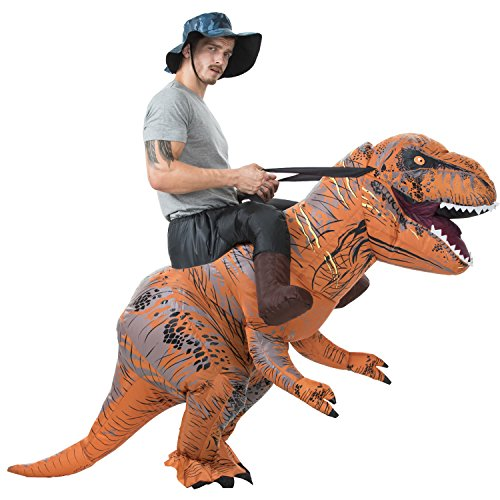 HEYMA Inflatable Dinosaur T-Rex Riding Costume Adult Fancy Dress Costume Inflatable Ride On T-Rex costume