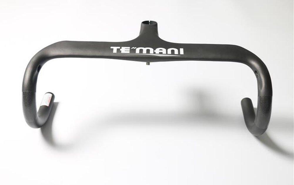 TE-H06 TEMANI正規品 ハンドル ロードバイク用 T800 カーボンハンドル マット ドロップハンドル B0787TWCQY 420*120mm|シルバー シルバー 420*120mm