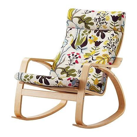 Amazon.com: IKEA poang mecedora Abedul Chapa con ...