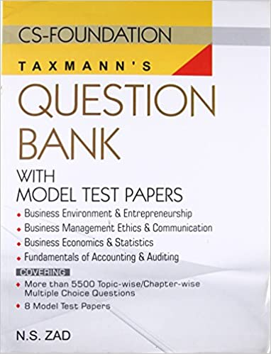 buy question bank with model test paper cs foundation book