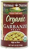 Westbrae Garbanzo Beans, Organic, 25-Ounce (Pack of 6) by Westbrae
