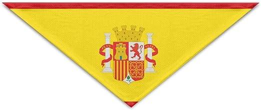 Preciosa Bandera de España Fútbol Fibra de Poliéster 100% Bufandas para Mascotas Accesorios Ajustable para Todos los Tamaños Perros Gatos Mascotas: Amazon.es: Productos para mascotas