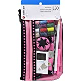sewing box with supplies - SINGER Beginner's Sewing Kit, Pink/Black