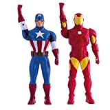 Avengers Assemble Walkie-Talkie Figures Iron Man & Captain America Toys Marvel Gadgets