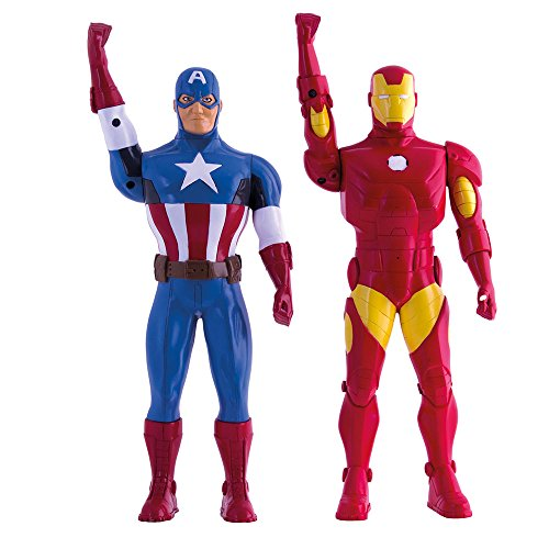Avengers Assemble Walkie-Talkie Figures Iron Man & Captain America Toys Marvel Gadgets by IMC Toys (Image #2)