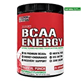 Evlution Nutrition BCAA Energy - High Performance, Energizing Amino Acid Supplement for Muscle Building, Recovery, and Endurance (Natural Tropical Punch)