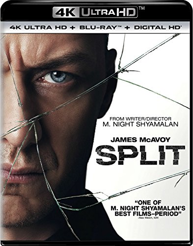 4K Blu-ray : Split (With Blu-Ray, Ultraviolet Digital Copy, 4K Mastering, Digitally Mastered in HD, 2 Pack)
