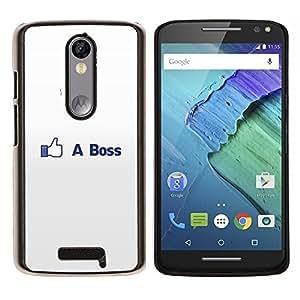 Caucho caso de Shell duro de la cubierta de accesorios de protección BY RAYDREAMMM - Motorola MOTO X3 3rd - COMO BOSS DIVERTIDO FB